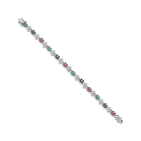 Jewelry & Watches Creative Natural Emerald Ruby Sapphire Pendant 925 Sterling Silver Wedding Jewelry Gifts