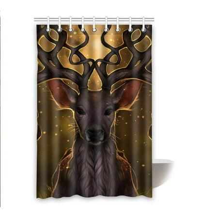 RYLABLUE Deer Waterproof Polyester Bathroom Shower Curtain 48x72 Inches - image 1 de 2
