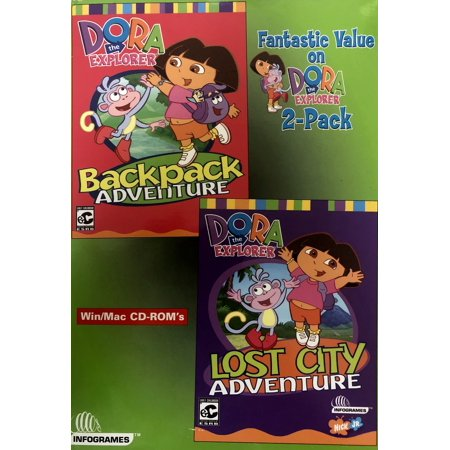 (Dora the Explorer (2 PC Game Set) Includes: Backpack Adventure & Lost City Adventure)