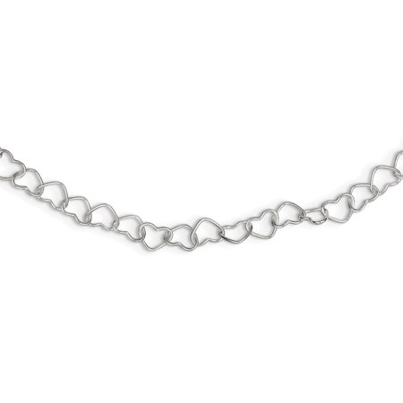 925 Sterling Silver 18 Inch Heart Cuban Link Chain Necklace Pendant Charm Fancy Gifts For Women For (Fancy Cabochon 925 Silver Pendant)