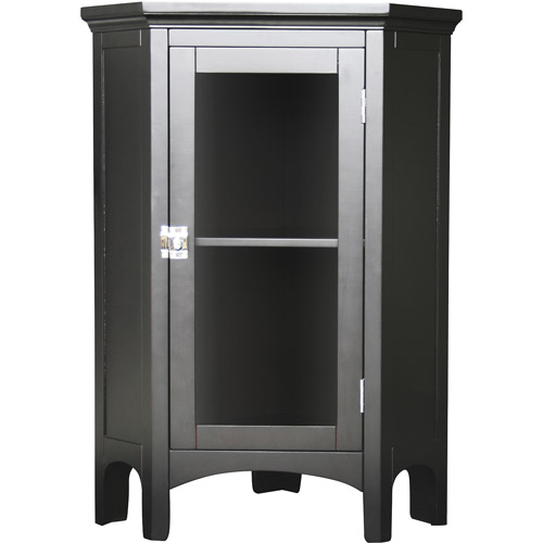 Classy Collection Corner Floor Cabinet, Dark Espresso