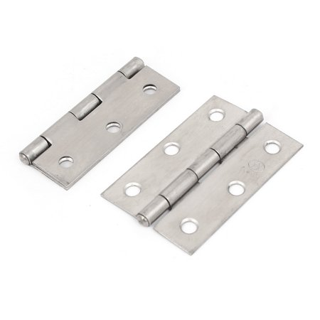 Uxcell Cabinet Drawer Door Steel  Hinges Silver Tone 63X42mm 2 (Hinged Drawer)