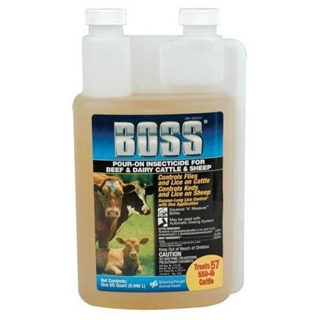 Boss Insecticide Pour-On Cattle Dairy Sheep 32 oz Lice fly Treatment