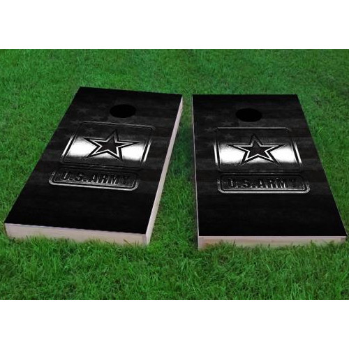 Custom Cornhole Boards Army Logo Cornhole Game (Set of 2) by Custom Cornhole Boards