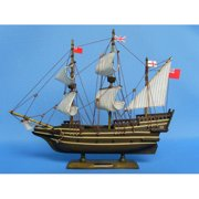 Handcrafted Nautical Decor May Flower Model Ship