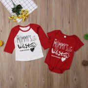 Valentine Brothers Kids T-shirt Tops Baby Boy Romper Bodysuit Clothes Outfit