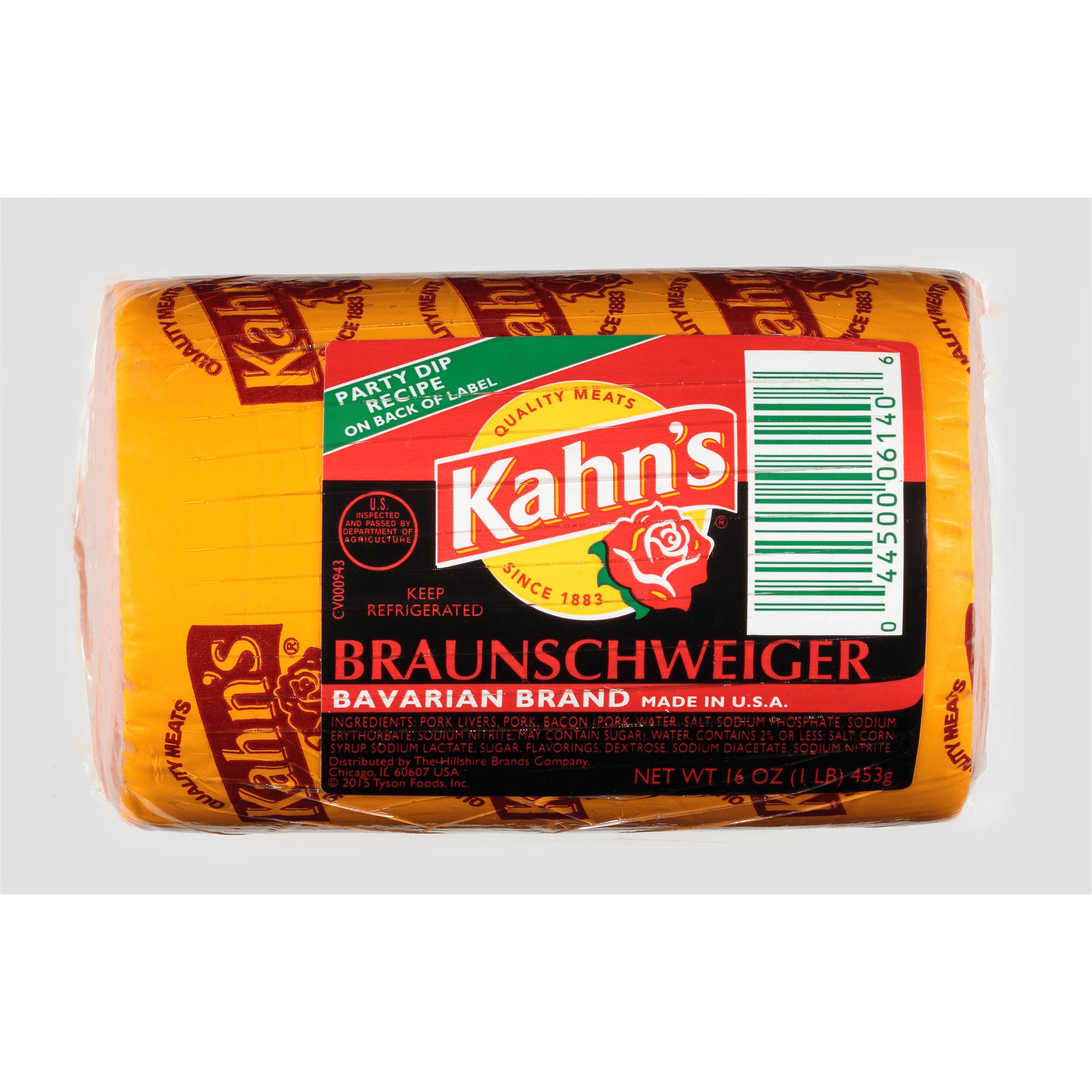 Kahn's® Bavarian Brand Braunschweiger, 1 lb.