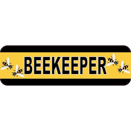 10x3 beekeeper bumper sticker bees car decal stickers window decals