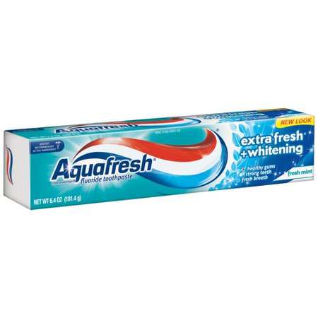 Aquafresh Extra Fresh + Whitening Fresh Mint Fluoride ...