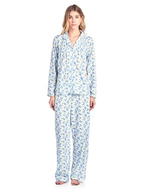 Product Image Casual Nights Women s Long Sleeve Floral Button Down Pajama  Set e72b9b472