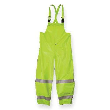 Nasco Arc Flash Rain Bib Overall, Lime Yellow, 3XL, 1501TFY3