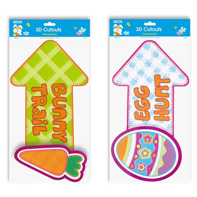 Flomo ET898 Easter Pop Layer Cut-Outs, Pack of 3 - Case Pack of 48
