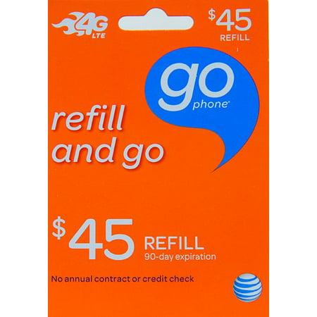 at t go phone 45 refill card walmart com