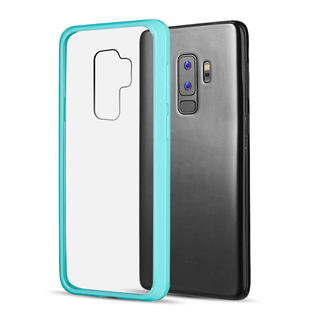 MUNDAZE Teal Mint Candy Acrylic Clear Case For Samsung Galaxy S9 PLUS Phone