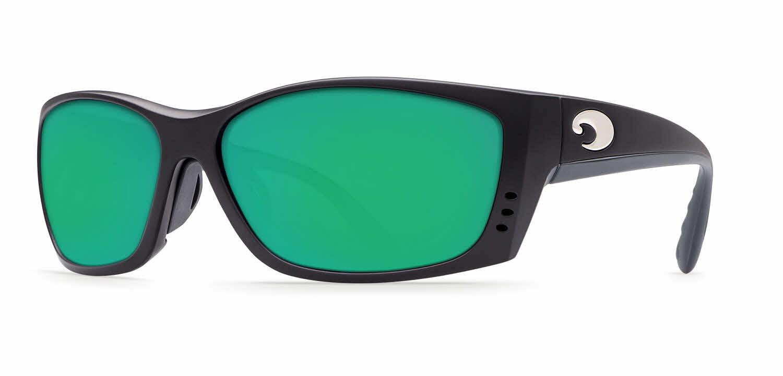 0aae392f87 Costa Del Mar - Costa Del Mar Fisch FS 11GF Matte Black Global Fit  Sunglasses Green Lens 580P - Walmart.com