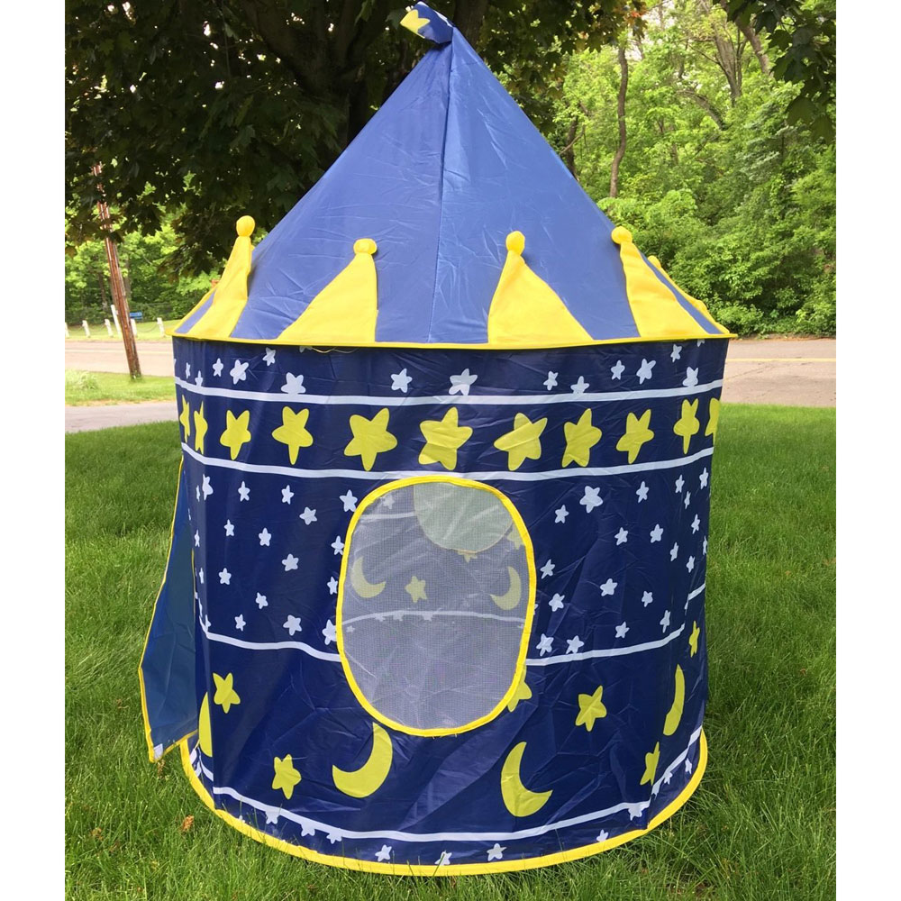 Ktaxon Princess Castle Play Tent, conveniently Folds in to a Carrying Case, Your Kids Will Enjoy This Foldable Pop Up Blue Play Tent - image 5 de 5