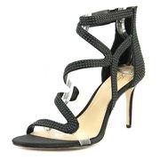 imagine vince camuto ricia women  open toe canvas black sandals