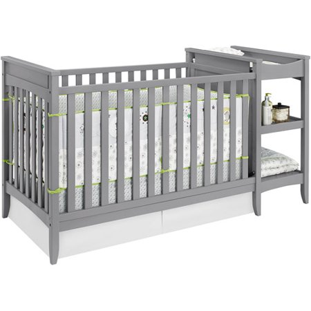 Baby Relax Emma 2-in-1 Crib n Changer Combo Gray