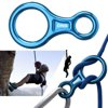 [2 Packs]Rock Climbing Figure 8 Descender, iClover [Heavy Duty] 35KN/3500kg Climb Aluminum Rescue Figure 8 Rigging Plate Climbing Equipment Rappelling Belaying (Blue)