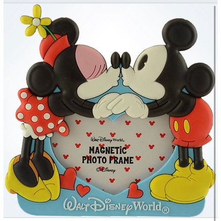 Disney Walt Disney World Mickey Minnie Hears Photo Picture Frame Magnet New - Photo Magnet