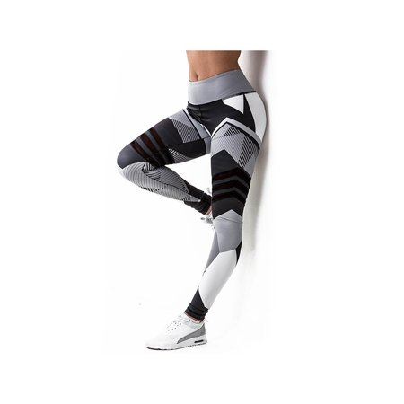 f811aceb49de2 Coxeer Yoga Leggings Geometric Printing Stretchy High Waist Tights Sport  Workout Pants for Women - Walmart.com