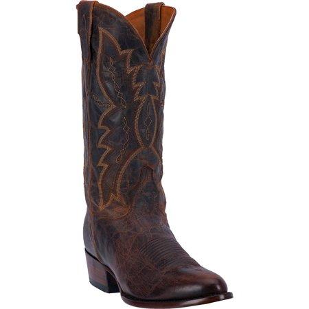 Men's Handmade Distressed Goat Cowboy Boot Round Toe - Ed1102
