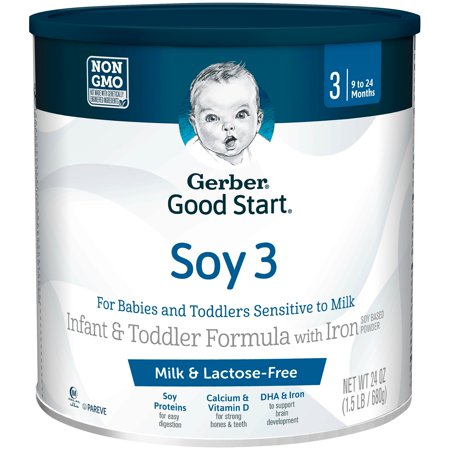 Gerber Good Start Soy Non-GMO Powder Infant and Toddler Formula, Stage 3, 24 oz. (Pack of