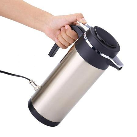 OTVIAP Car Heater Bottle,1200ml 24V Travel Car Kettle Cigarette Lighter Socket Water Heater Bottle for Tea Coffee, Travel Car Kettle ()