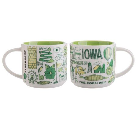 Starbucks Coffee Been There Iowa Ceramic Coffee Mug New with Box