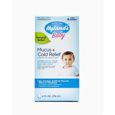 2 Pack Hylands Baby Mucus Cold Relief of Congestion Runny Nose & Cough 4 Oz