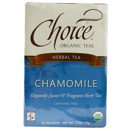 Choice Organic Chamomile Herb Tea, 16 Count Box