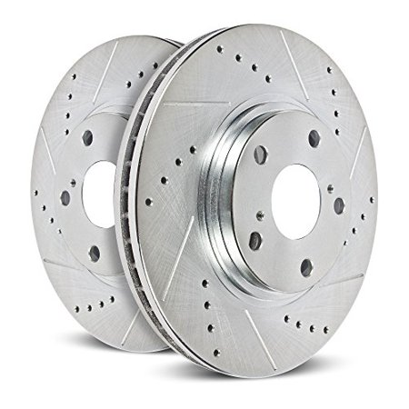 Power Stop JBR1595XPR Evolution Drilled & Slotted Rotors -Rear