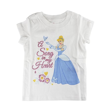 "Disney Store Baby Girls Cinderella ""A Song in my Heart"" Short Sleeve T-Shirt"