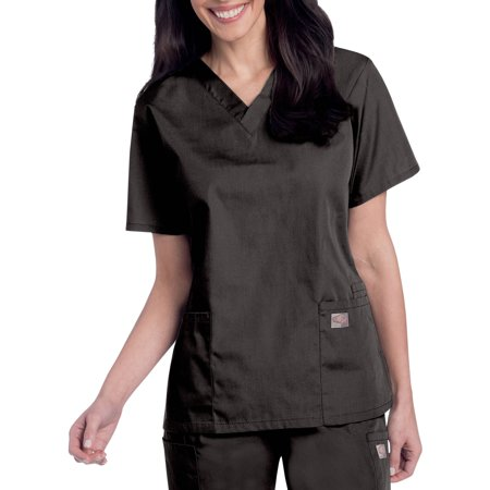 ScrubZone by Landau Women's V-Neck Short Sleeve Scrub Top