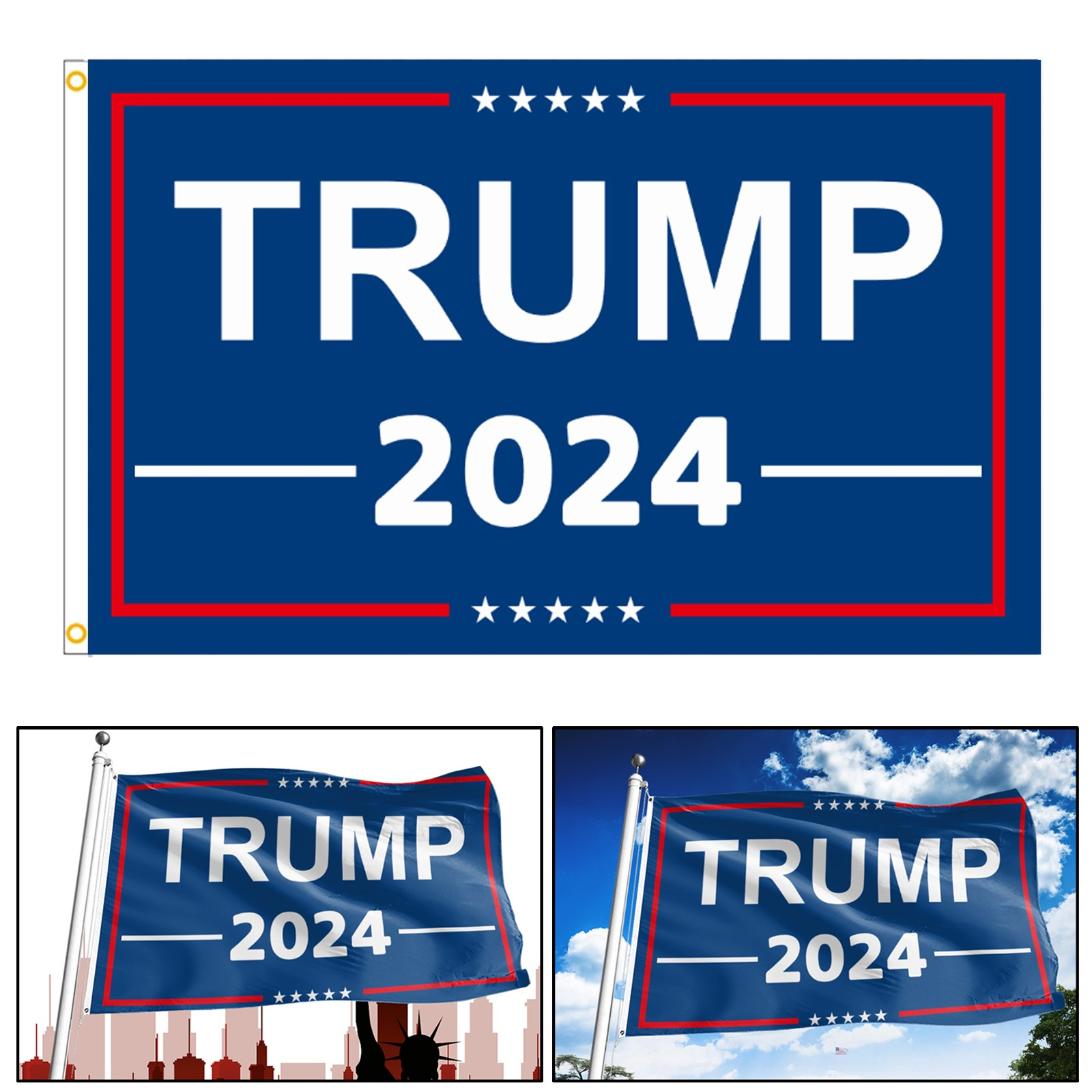 Donald Trump Flag 3x5/' Ft Thank You Banner Poster Flags MAGA Save America 2024