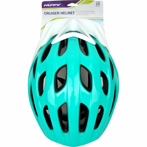 Huffy Cruiser Teal Cycling Helmet, Adult Men's