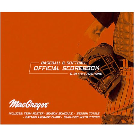 Baseball Softball Oversized Scorebook