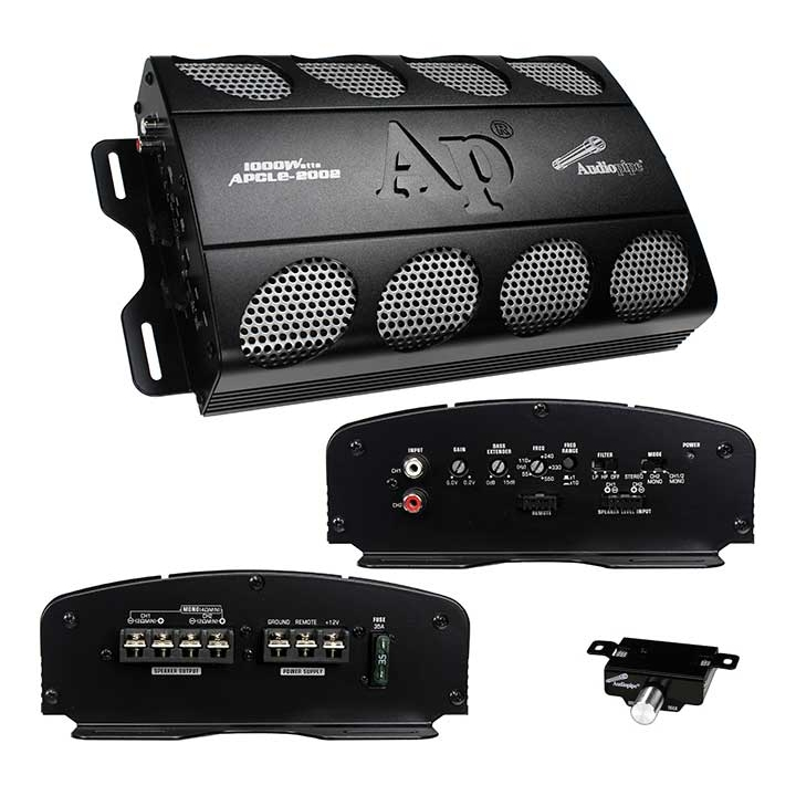 Amplifier Car Audio Amplifier For Stereo Speaker 1000 Watt 2 Channel  - Black