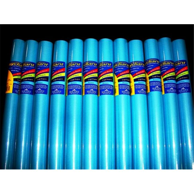 RiteCo Raydiant 80061 Riteco Raydiant Fade Resistant Art Rolls Light Blue 24 In. X 12 Ft. 12 Pack