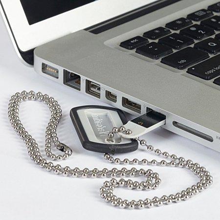 Verbatim 8GB Dog Tag USB Flash Drive, Violet