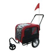 New MTN-G MTN-G 2 in 1 Pet Carrier Dog Bike Bicycle Trailer Stroller Jogging w/ Swivel Wheel