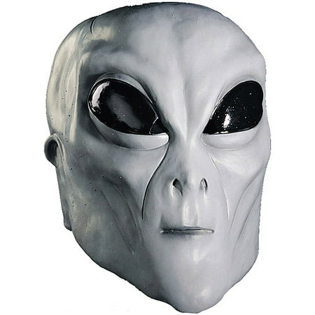 Alien Grey Mask Adult Halloween Accessory - Grey Alien Mask