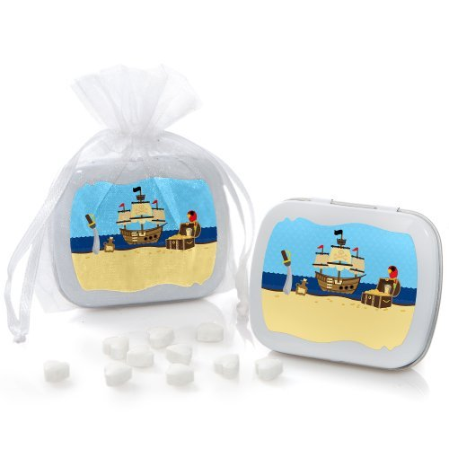 Ahoy Mates! Pirate Mint Tin Party Favors (set of 12) by Big Dot of Happiness, LLC