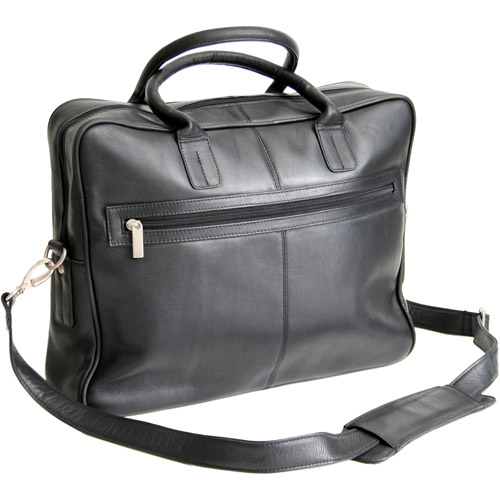 Royce Leather Executive Colombian Vaquetta Leather Laptop Briefcase, Black