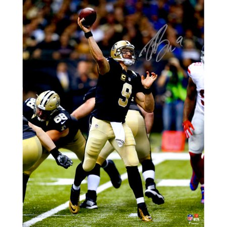 """Drew Brees New Orleans Saints Autographed 16"""" x 20"""" Black Jersey Photograph"""