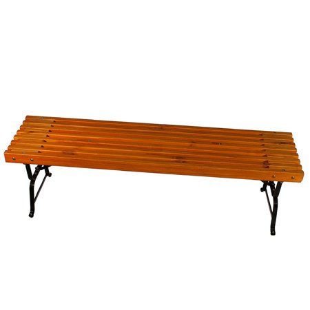 Mall Style Outdoor Bench With Black Powder Coated Steel