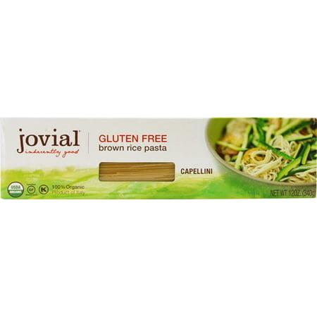 (6 Pack) Jovial Gluten Free Organic Brown Rice Capellini, 12 Oz Deboles Gluten Free Rice
