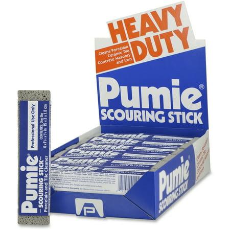 U.S. Pumice, UPMJAN12, US Pumice Co. Heavy Duty Pumie Scouring Stick, 12 / Pack, Gray