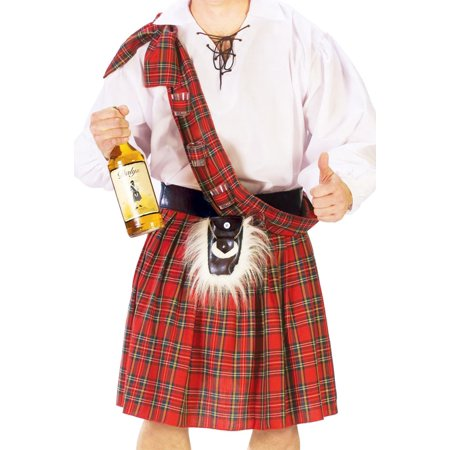 Scottish Kilt Adult Halloween Costume - One Size