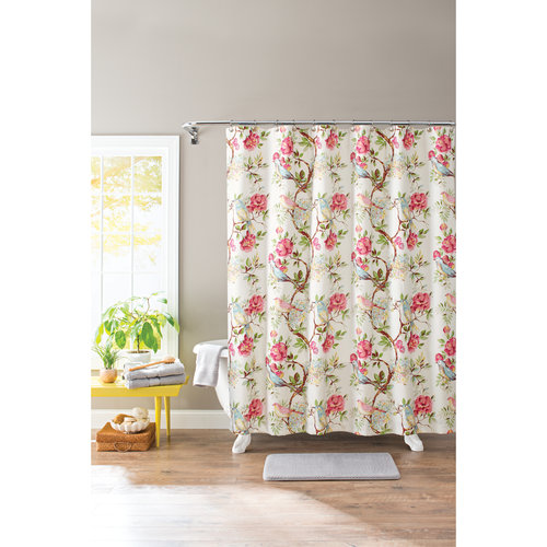 Better Homes and Gardens Multi-Color Floral Springtime Botanical 13-Piece Shower Curtain Set, Hooks Included